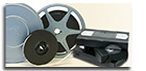 video cassettes and 8mm film image